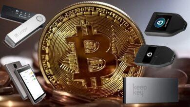 Bitcoin hardware wallets 390x220 - بهترین کیف پول سخت افزاری 2021 ؛ والت سخت افزاری خوب چی بخریم؟